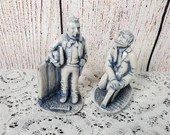 1986 Georgia Marble Limited Edition Figurines Ulysses Grant and Realtor