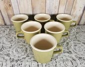 1950s 6 Vintage Genuine Taylor Mug Usa Olive Outside Cream Inside