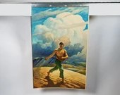 1942 N.C. Wyeth Hercules Powder The Sower Calendar Top Litho