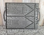 John Wright Large Victorian Gingerbread House Cast Iron 2 Sided Mold Cast In USA
