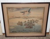Rare Prise de Trois December 1643 (1939) Copperplate Engraving COA