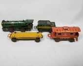1940s Marx Tin Litho Miniature Ranger Train Set No 393