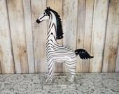 Rare Signed Formia Murano Art Glass Zebra With Original Label 4/500