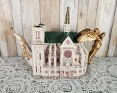 1995 Fitz & Floyd Teapot Places Of Worship Notre Dame Limited Edition #1926