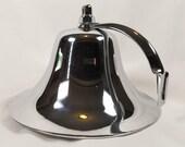 Vintage Perko Chrome Over Bronze Ships Fog Bell 8 Inch