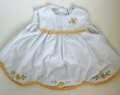 "Vintage Yellow and White Flower Dress by ""Itty Bitty"" (24 MOS)"