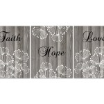 Faith Hope Love Farmhouse Wall Decor Rustic Home Decor