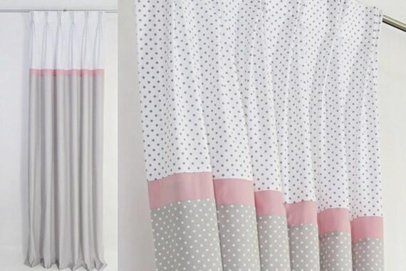 bebe fille chambre d enfant gris rose des rideaux rideaux pour fille chambre d enfant oeillet pepiniere rideaux pastel rose creche rideaux tailles
