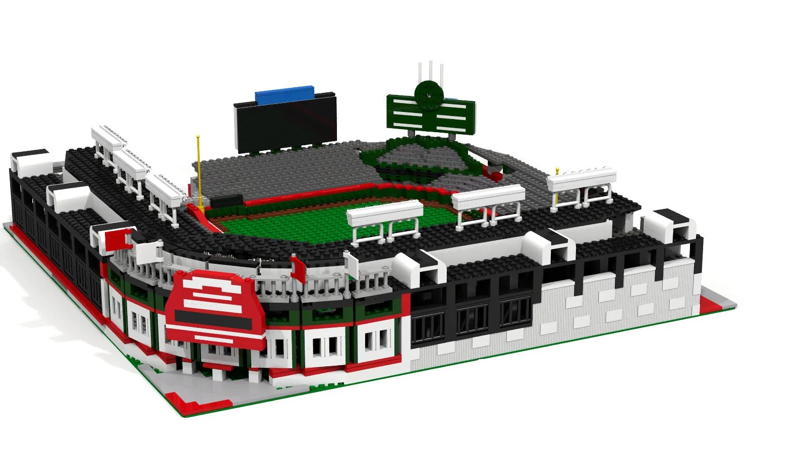 Wrigley Field Chicago Cubs Baseball Stadium Brick Model   Etsy image 0
