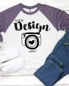 Next Level 6051 Vintage Purple Heather White Unisex Baseball Etsy