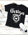 Kids T Shirt Mockup Bella Canvas 3001t Black T Shirt Jersey Etsy