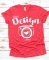Bella Canvas Mockup 3005 Heather Red Unisex T Shirt Mock Up Etsy