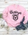 Gildan 18000 Heavy Blend Crewneck Sweatshirt Light Pink Etsy