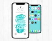 iPhone Lock Screen + Wallpaper: Adventure Or Tea w/ typography + teacups