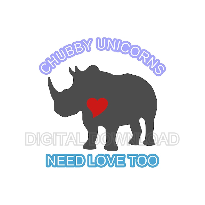 Download Chubby Unicorns Need Love Too Digital Download SVG DXF EPS ...