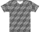 Sayagata #4 - Grayscales Unisex AOP T-shirt