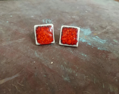 Ceramic earrings - square...
