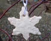 Bobbly ceramic snowflake-...