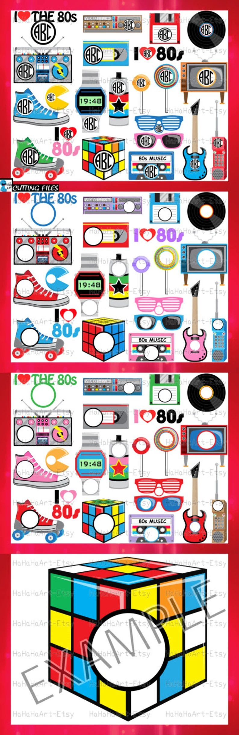Download Circle 1980s I Love The 80s v2 Cutting Files Svg Png Jpg ...