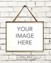 Horizontal Gold Brass Frame Mockup On White Brick Background Etsy