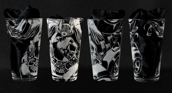 DJ Sona Kinetic League of Legends Engraved Drinking Glass