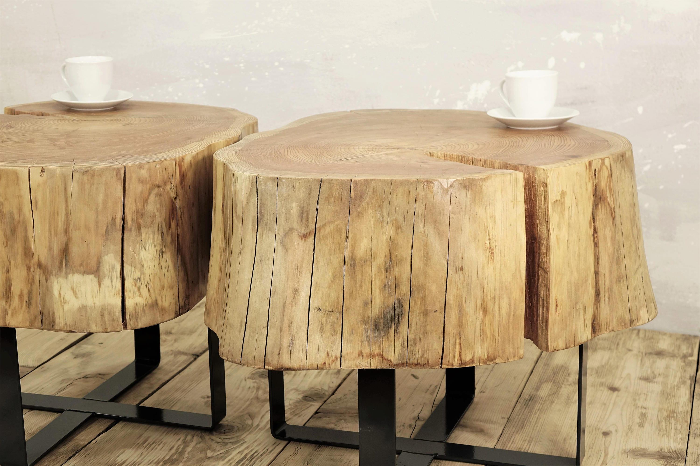 metal base slab coffee table natural