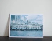 Customs House, and Wapping, Thames path,  London. 4 x A6 postcards, film analog photo print
