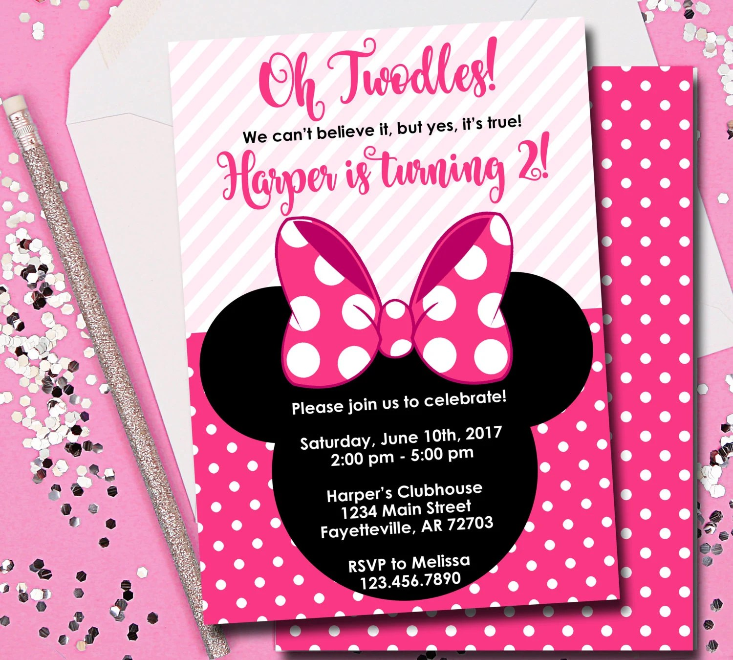 minnie mouse birthday invitation minnie mouse birthday invitation oh twodles birthday invite mickey mouse disney printable 5x7