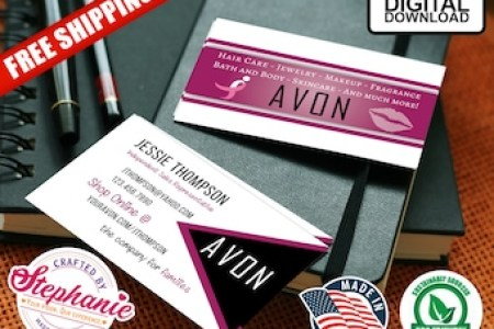 Avon business cards   Etsy Double Sided Unisex Avon Business Card For Men PDF AI Template Customizable  Editable Instant Digital Download LGBT