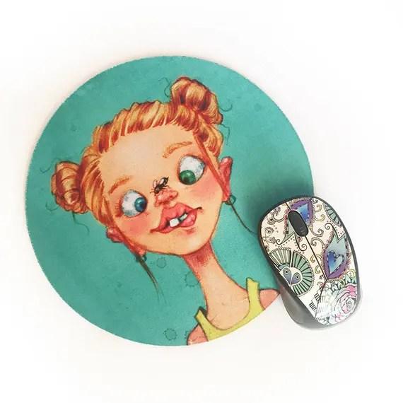 Happy Beeday • Round Mousepad