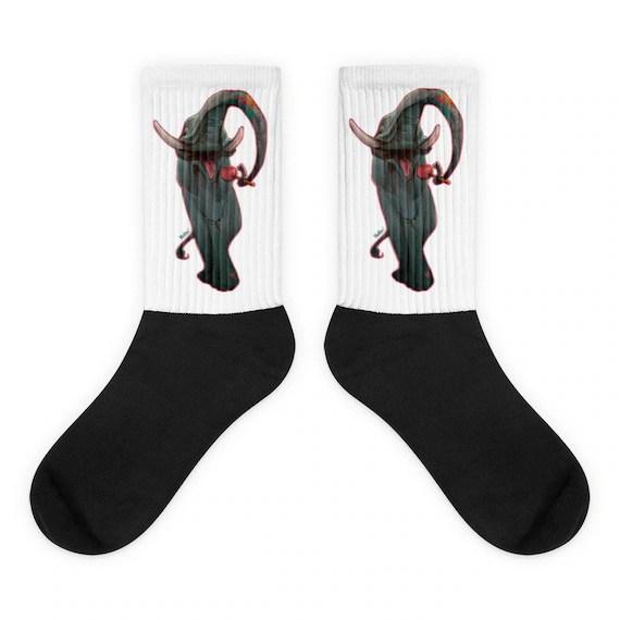 Lollipop Ellie • Black Foot Socks