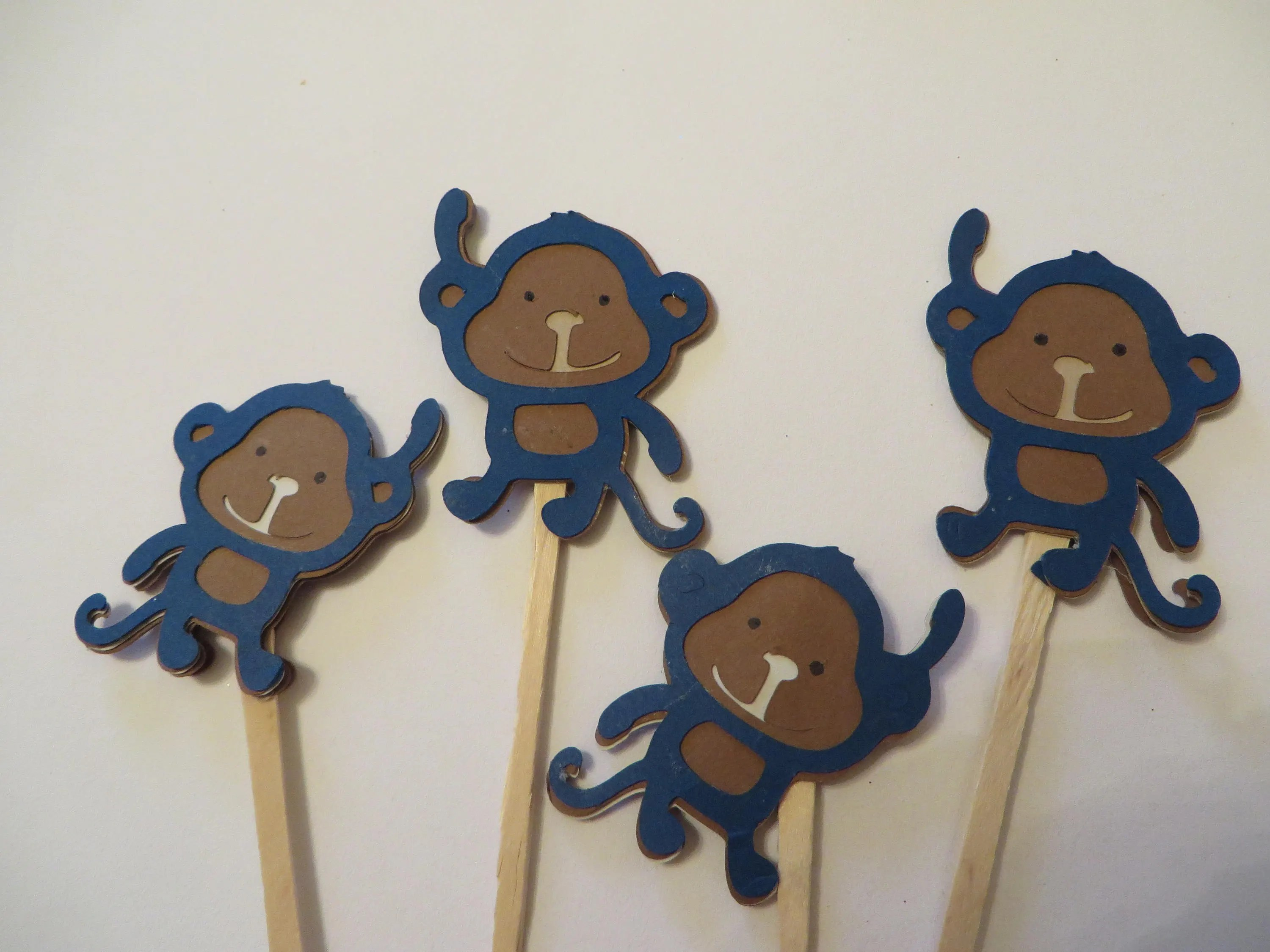 Monkey Cupcake Toppers Cupcake Toppers Birthday Parties