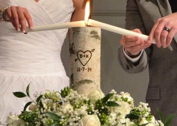 Rustic Unity Candle Monogram Ceremony Wedding Unity Candle