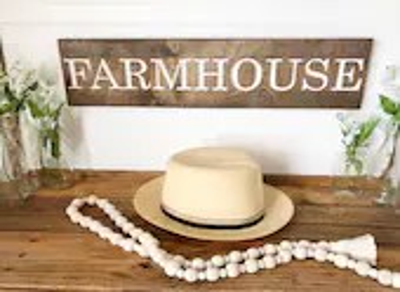 Farmhouse Wood Engraved S...