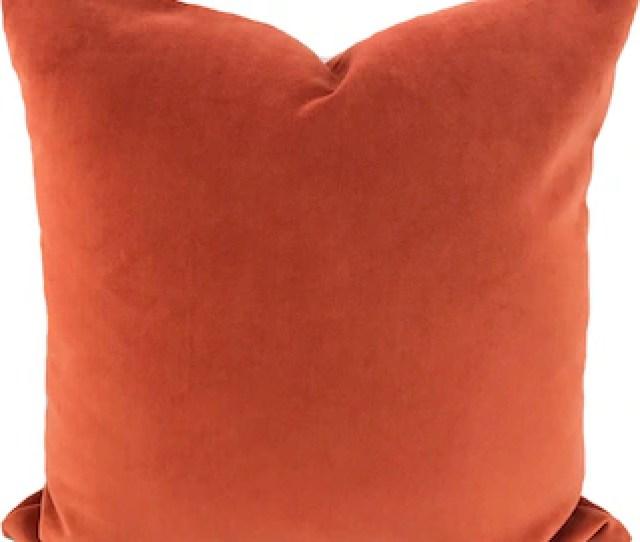 Orange Pillow Cover Orange Throw Pillow Decorative Pillow Orange Accent Pillow Couch Pillow Shams Velvet Pillow 11 Sizes Available