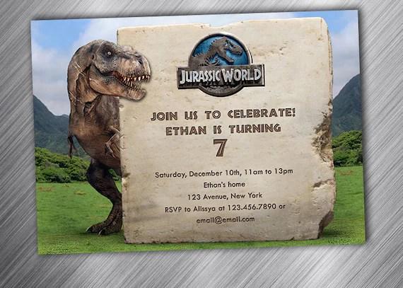 jurassic world jurassic birthday jurassic invitation birthday party invitation