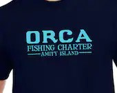 Jaws: Orca fishing charter tee shirt