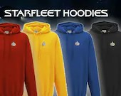 Star Trek Hoodie - Star Trek The Next Generation - Starfleet badge - Embroidered Star Trek Top -