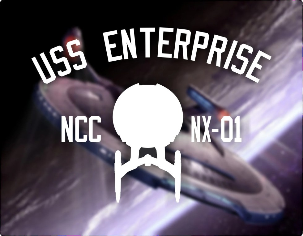 USS Enterprise NX-01 Tee Shirt. Star Trek: Enterprise Star ship print