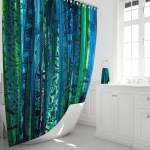Blue Boho Shower Curtain Boho Bathroom Decor Boho Maximalist Gypsy Soul