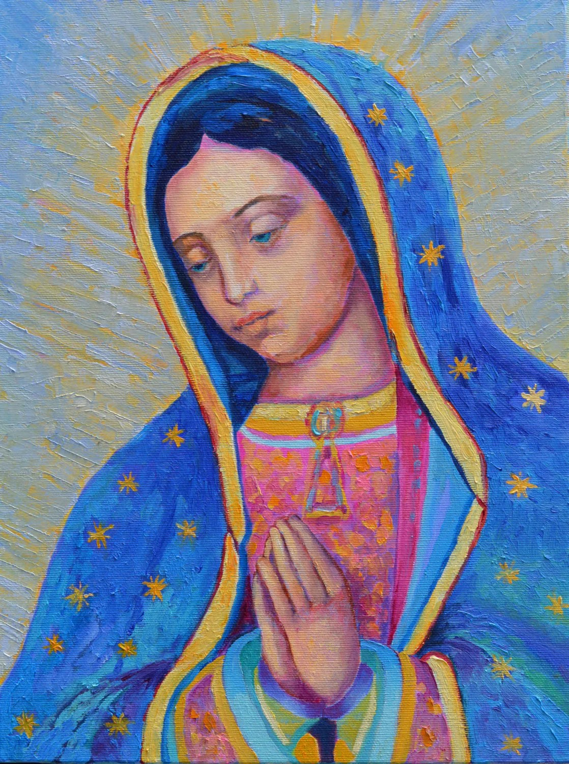 Our Lady Of Guadalupe Poster Virgin Mary Print Catholic