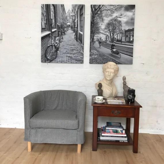 Housse De Glissement Pour La Chaise Ikea Solsta Olarp En Tissu Look Lin