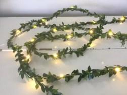 Garland led fairy lights, green leaves bedroom decor ideas | soyvirgo.com