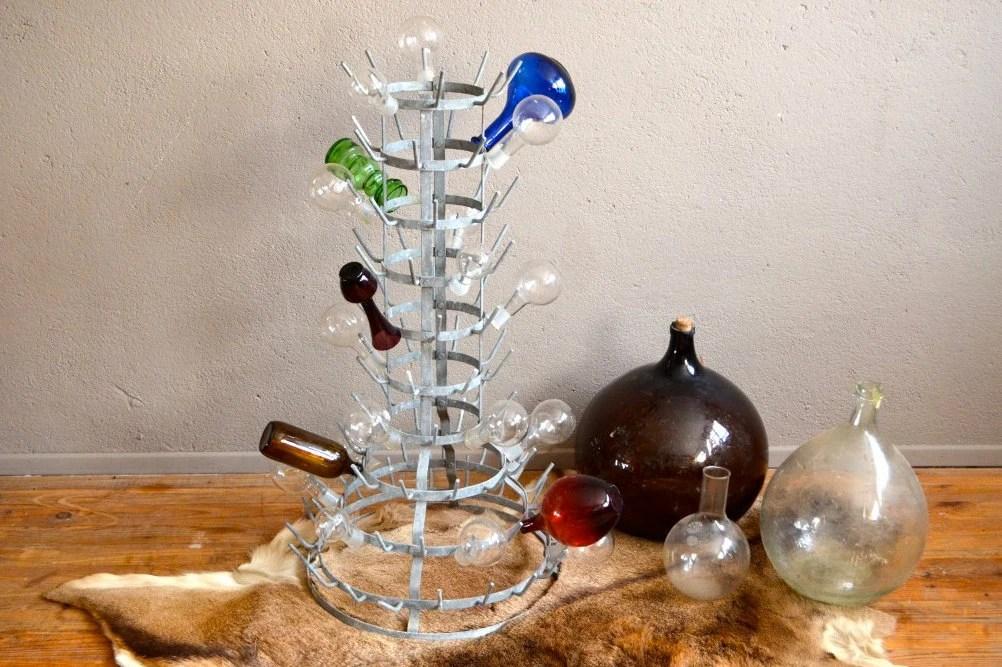 porte bouteilles a vin vintage egouttoir herisson design marcel duchamp