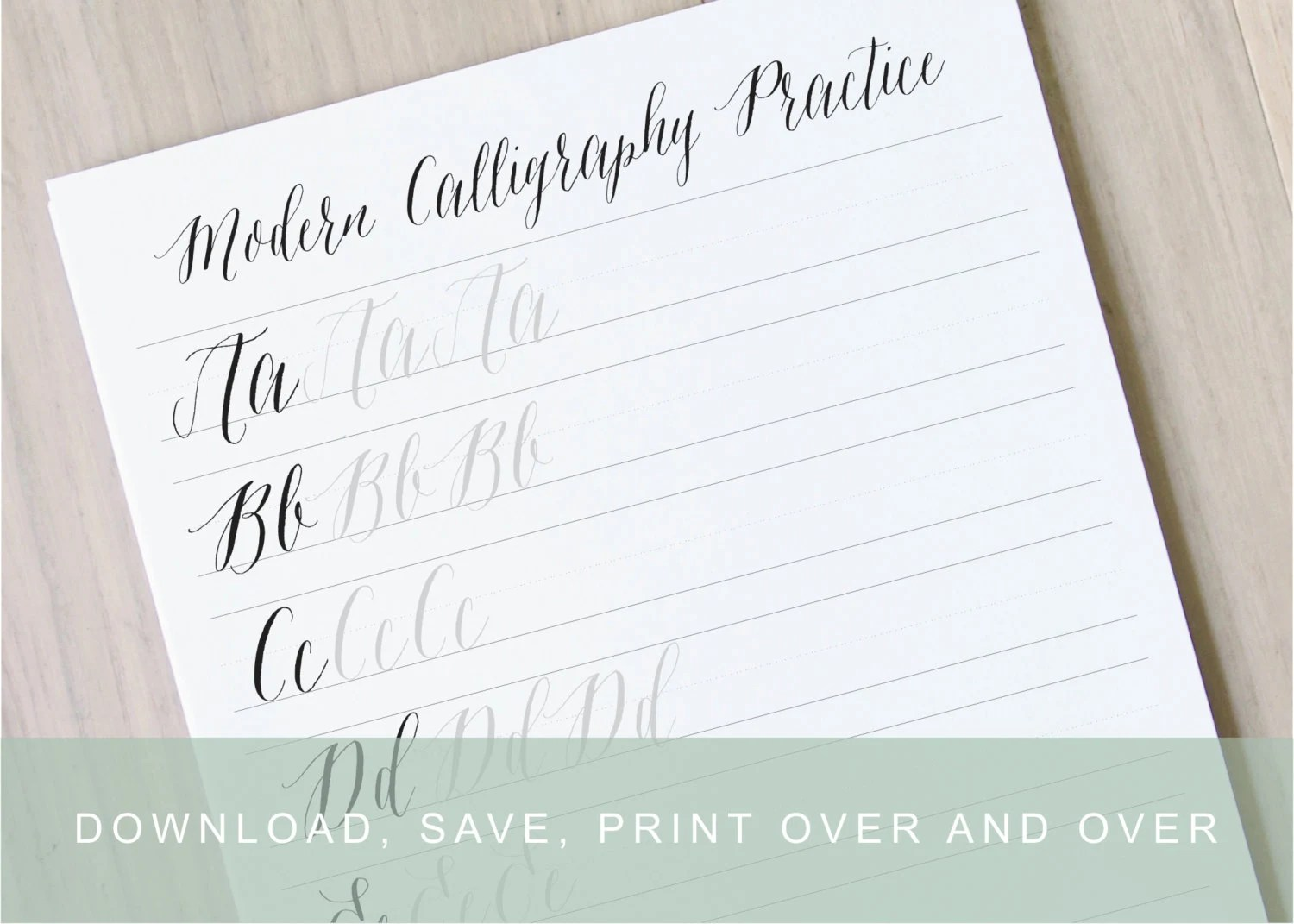 Modern Calligraphy Worksheet Pointed Pen Calligraphy
