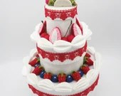 3 tier fake cake, decorative box