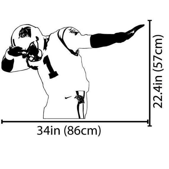 Cam Newton Carolina Panthers Dabbing Poster Photo Painting On Canvas Wall Art Home Garden Home Decor Home Garden Home Decor