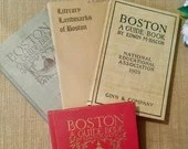 Boston Guide Books/ Vintage History of Boston/ Boston Landmarks Guided Books