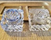 Vintage Ink Well - Desk Accessories - Tray With Glass Ink Well