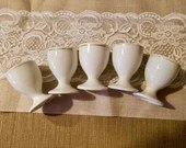 Vintage Porcelain Egg Cups Made of Porcelain/ Lot of 5/ Made in Germany